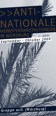 Antinationale Herbstveranstaltungen in Würzburg